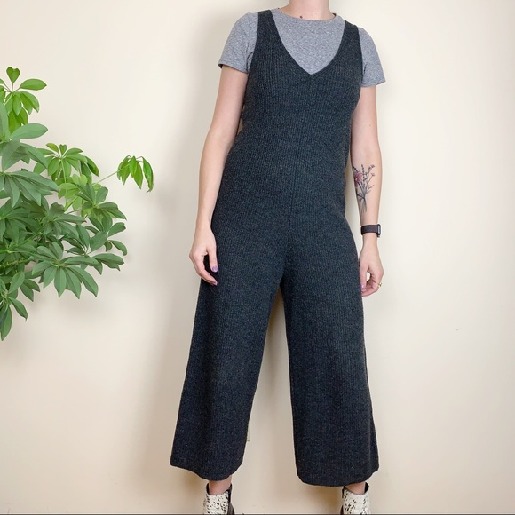 54855c891d Madewell Pants - Madewell Charcoal Gray Wool Sweater Jumpsuit